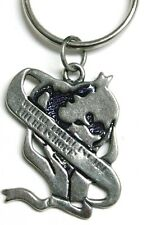 Earth with banner Care keyring - heart-shaped