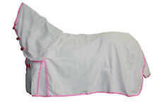 AXIOM POLYCOTTON PINK RIPSTOP UNLINED HORSE COMBO RUG 5'9