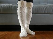 BLACK FRIDAY SALE- Boot Socks, Leg Warmers, Gift, Stocking Stuffers,Socks -Ivory