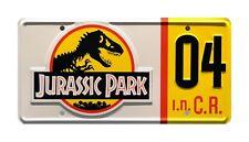 Jurassic Park | Ford Explorer | #04 | Metal Stamped Replica Prop License Plate