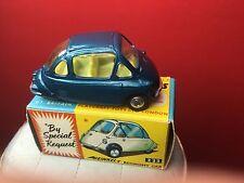 RARE VINTAGE 1960S CORGI HEINKEL #233 MINT IN VNM BOX RARE OFF BLUE COLOR