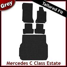 Mercedes C Estate Manual A Medida Alfombra Estera de arranque coche + Equipada Gris (2007-2012)