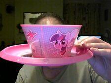 MY LITTLE PONY  BREAKFAST SET BOWL & PLATE (LIGHTER DESIGN) GREAT GIFT!