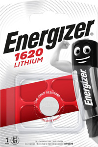 Energizer CR1620 3V Lithium Coin Cell Battery 1620. 0201