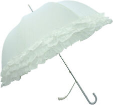 Triple Frilled White Wedding Umbrella