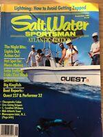 Salt Water Sportsman Atlantic Edition Fishing Magazine September 1991