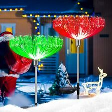 2 Pack Color-Changing LED Solar Powered Jellyfish Stake Lights Yard Garden Decor