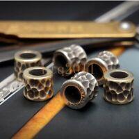 EDC Brass Cupronickel Lanyard Bead Paracord Keychain Umbrella Rope pendant