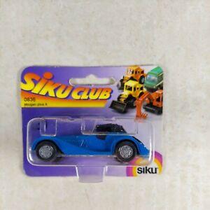 Siku Club #0836 Morgan Plus 8 on Card New Diecast Car Blue with Black Top