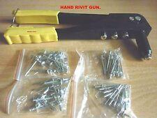 HAND RIVIT GUN WITH POP RIVITS ( 2.4 TO 4.8 mm ) - NEW.