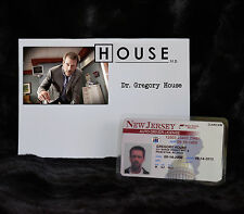 """TV SERIES HOUSE MD EXACT REPLICA COLLECTOR PROP """"GREGORY HOUSE"""" DRIVERS LICENSE"""