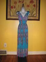 NWOT Turquoise Paisley Maxi Dress Size M/L