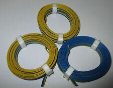 [1m = Triple Braid Wire 3x5m Märklin Blue-Yellow-Blue New