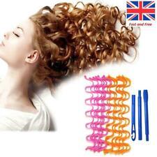 New 12Pcs 30/50CM Hair Curler Wavy Hair Styling Kit Spiral Hair Care Styling UK