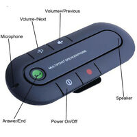 Hands Free Bluetooth Hands free In Car Wireless Speaker Phone Kit Visor Clip UK
