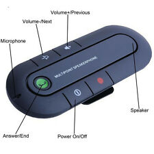 Hands Free Bluetooth 3.0 Hands Free In Car Wireless Speaker Phone Kit Visor Clip
