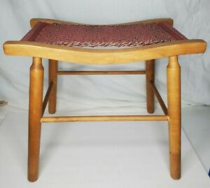Vintage Mid Century Bentwood Chair / Stool / Ottoman with Woven Seat Oak?
