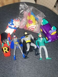 Lot of 7 Marvel  Vintage McDonald's Happy Meal Toys Mixed Years