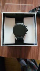 Fossil Garrett HR Gen 5 46mm Gehäuse mit Gliederarmband Smartwatch für Herren -…