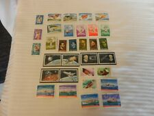 Lot of 32 Romania Stamps from 1981, 1982 Gliders, Military, Pigeons, Space, More