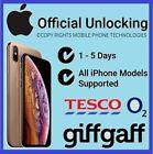 Unlocking Service iPhone 7 7+ 8 X 11 Pro Plus O2 Tesco Giffgaff UK Unlock Code <br/> Premium 1-72 Hours - All Models - IMEI Needed Brand New