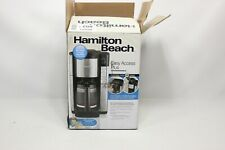Hamilton Beach Programmable Coffee Maker, 12 Cup Carafe with Easy Re - Preowned