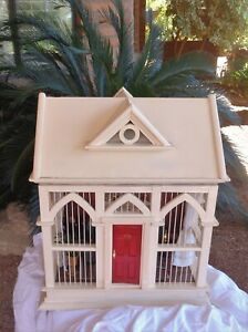 DOLLHOUSE ONE-OF-A-KIND ROOM, A BIRD CAGE TRANSFORMED INTO A 1:12 ROOM BOX,