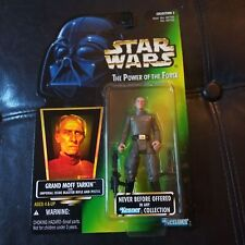 1996 Star Wars Power Of The Force Green Grand Moff Tarkin with Rifle and Blaster