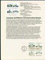 USPS 1979 First Day Issue Souvenir Page, American Architecture