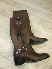 Ralph Lauren Collection Brown Leather Riding Boots - BN!!! Size US 8