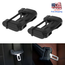 Black Car Seat Belt Buckle Clip Silicone Anti-Scratch Cover Safety Accessories