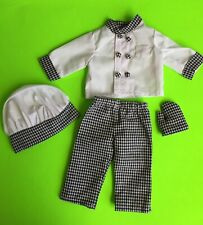 """Chef / Baker Outfit for American Girl or 18"""" Dolls Euc"""