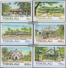 Tokelau 117-122 (compleet Kwestie) postfris MNH 1985 Bouwen