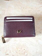 BNWT Michael Kors Leather Mott Barolo Zip Around Card Case