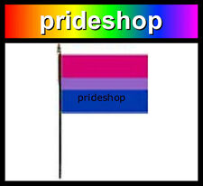 Bisexual Desk Flag With Stick 4 inch x 6 inch Polyester Bi Sexual Pride #156