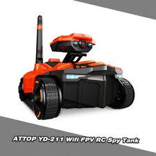 ATTOP YD-211 RC Robot 0.3MP Camera App Remote Control S py Tank RC Car Toy A1J7