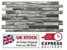 ✔️Wall Grey Stone 3D Effect Panels PVC Plastic Decorative Brick Tiles Cladding✔️