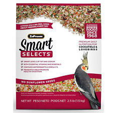 ZuPreem Smart Selects Cockatiels & Lovebird Free Shipping