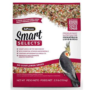 ZuPreem Smart Selects Cockatiels & Lovebird Free Shipping