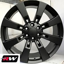 "22"" inch 22 x9"" Wheels for Chevy Avalanche Satin Black Rims Denali CK375"