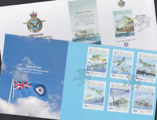 Gibraltar 2008 FDC 2 Covers Royal Air Force RAF 90th Anniversary Aviation Planes