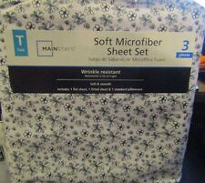 Mainstays Twin Sheet Set New 3 Pieces Wrinkle Resistant