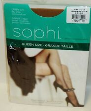 1 SAPHI By Sophisticated Miss Day Sheer Reinforced Toe Pantyhose Queen SZ BEIGE