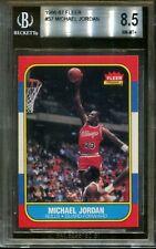 1986 Fleer Basketball ROOKIE #57 Michael Jordan BGS 8.5 NM-MT+ OLD LABEL