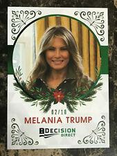 Melania Trump 2020 Decision Holiday Factory Set Insert GREEN FOIL #4 FLOTUS 2/10