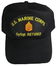 USMC MARINE CORPS GYSGT GUNNERY SERGEANT GUNNY E-7 RETIRED HAT CAP SEMPER FI
