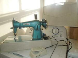Vintage Blue Morse Heavy Duty All Metal Deluxe Sewing Machine Model 2000