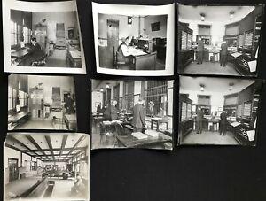 Vintage 1900s Railroad Train Ticket Offices Ticketmaster Photo Lot`(7 pcs) BB