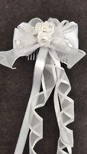 Flower Girl Bridesmaid  Holy Communion White Hair Accessory Headband