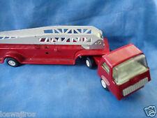 "Vintage 1960's Tonka Fire Ladder Truck Trailer Pressed Steel 10 1/2"" Long"